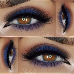 paola.11 used the 88 Color Matte Eyeshadow Palette for this cool blue look.