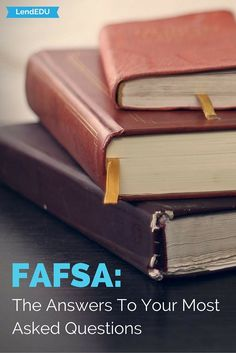 LendEDU answers the most important questions about FAFSA. Every student loan borrower needs to read this! Tips for paying for college. Grants For College, College List, College Majors, Financial Aid For College, Online College, Scholarships For College, Education College, Private Student Loan, Student Loan Debt