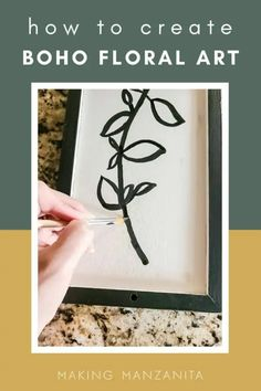 Boho Floral Line Art: Cheap and Easy Thrift Store Idea  I'm a big fan of thrift stores. You can find so many great gems that are beautiful as is or ripe for picking as a new-to-you piece. The great thing about this project is that you can use any size or shape of a frame and any colors you choose. I wanted to stay within the color palette of our home, so I stuck with neutrals. Wall Decor Crafts, Diy Pins, Thrift Stores, Modern Boho, Art Tutorials, Line Art, Thrifting, Gallery Wall, Artisan