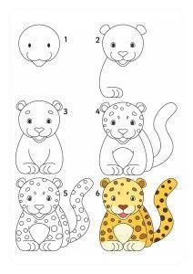 kaplan_nasıl_çizilir (2) Drawing Lessons For Kids, Art Drawings For Kids, Cartoon Drawings, Animal Drawings, Kids Art Class, Art For Kids, Cheetah Drawing, Drawings For Boyfriend, Shadow Drawing