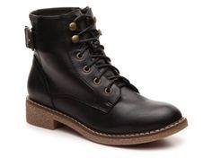 Women's Wanted Noora Combat Boot - Black
