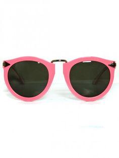 Pink sunnies by Karen Walker. <3
