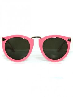Pink sunnies by Karen Walker. <3//karen walker gets me.