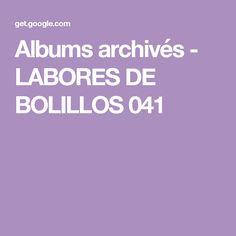 Albums archivés - LABORES DE BOLILLOS 041