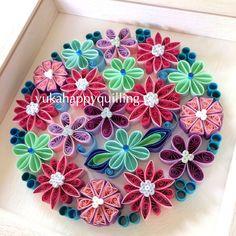 #paperart #art #quilling #paperquilling #quillingart #interior #happy #handmade #flower #papercraft #love #circle #japanesestyle #redandblue #クイリング #ペーパーアート #インテリア #ペーパークラフト #ペーパークイリング #ハッピー #自然 #フラワー #和 #円 #赤と青