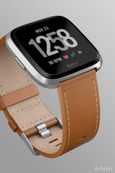 8345800d5ab8d Customize your Fitbit Versa with a Horween® leather accessory band in