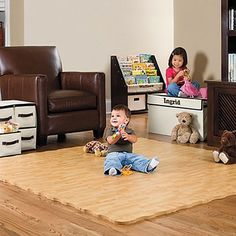 Hardwood Look Natural Foam Puzzle Mat, Foam Floor Mat, Play Mat Bedroom Flooring, Vinyl Flooring, Flooring Ideas, Playroom Flooring, Timber Flooring, Flooring Options, Soft Tiles, Baby Play Areas, Doors And Floors