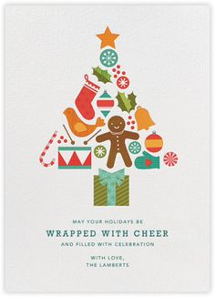 Petit Collage Holiday Card  Treat Tree - Paperless Post