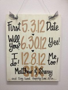 Custom Hand-Painted Wedding Anniversary Announcement with Dates on wood sign gift Valentines Day on Etsy, Wedding Wishes, Wedding Signs, Our Wedding, Dream Wedding, Wedding Stuff, Wedding Quotes, Gift Wedding, Wedding Table, Wedding Reception