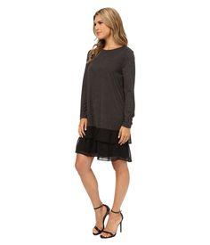 Kensie Women'S Long Sleeve Sheer Dress