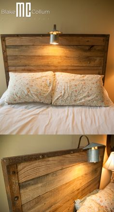 I was asked to build a headboard, this is what they got. Reading light included.