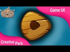 Game UI - How to Create Simple Buttons 02 in Adobe Photoshop