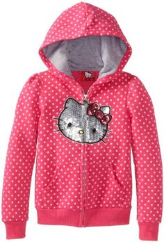 Hello Kitty Girls 2-6X Hoodie with Polka Dots $13.33 (save $22.67) + Free Shipping