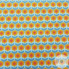 100/% Cotton John Louden FLORAL 150cm Wide Multicoloured Grey Rose Blue Fabric