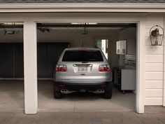 Cleverly concealed in a carriage house-style structure, the detached garage from HGTV Dream Home 2009 boasts ample parking and storage space.