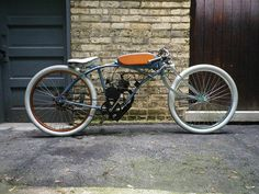 Motorized Bicycle  Board Track Racer Tribute Build