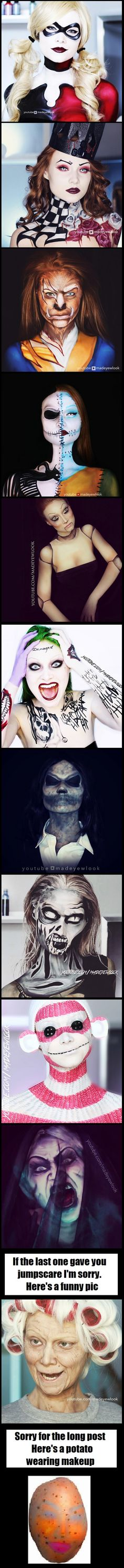 Same girl - with different makeup - 9GAG/// this is Lex for those who don't know. She has a YouTube channel:Madeyewlook if you're interested,she's an inspiration!