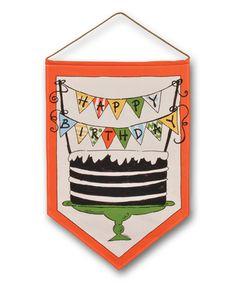 Another great find on #zulily! 'Happy Birthday' Flag #zulilyfinds