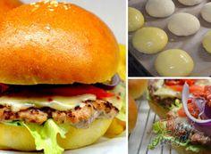 Recept Domácí hamburgery (nejlepší hamburgerové housky) Remoulade, Bread, Chicken, Ethnic Recipes, Bread Baking, Cooking, Souffle Dish, Food Items, Food Food