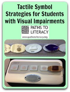 tips + activity ideas on the use of tactile symbols w/ students who are visually impaired w/ additional disabilities. Braille, Libra, Multiple Disabilities, Learning Disabilities, Visually Impaired Activities, Career Exploration, Preschool Special Education, Visual Schedules, Assistive Technology