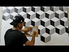 Teaching the implementation of the latest trims at the lowest cost and s. Creative Wall Painting, Wall Painting Decor, House Painting, Wall Paintings, Faux Painting, Painting Furniture, Bedroom Wall Designs, Wall Art Designs, Paint Designs