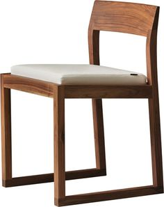 BURTON chair made of canaletto walnut, design by MAAM