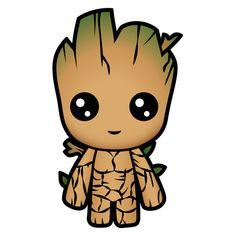 Marvel Chibi Cute Groot Sticker