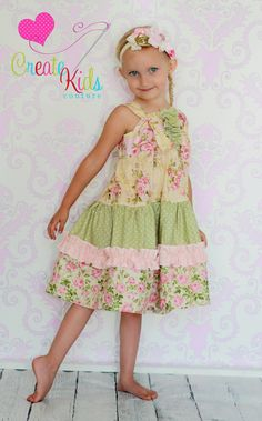 Aubrey's tiered twirly knot dress