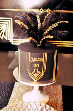 Great Gatsby themed birthday party via Kara's Party Ideas KarasPartyIdeas.com Cakes, printables, favors, desserts, and MORE! #thegreatgatsby #adultbirthdayparty #karasoartyideas (22)