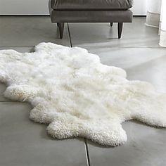 Ivory Sheepskin Throw Rug