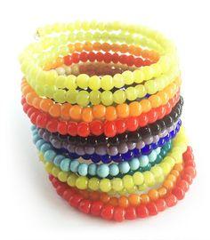 Kade Rainbow - Long Beaded Before A$39.95 NOW ON SALE A$24.95 Bangles, Beaded Bracelets, Fair Trade Fashion, Indigo, Jewelry Accessories, Rainbow, Beads, Bracelets, Rain Bow
