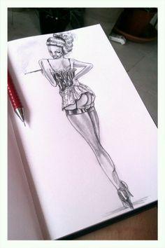 Pin the pin-up girl. #pinup #artwork