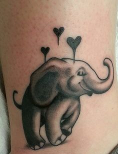 My newest tattoo! Elephant tattoo!!!!! Thanks to Jon Murray at starship tattoo in Milwaukee, WI! I'm in love with this tattoo :-)