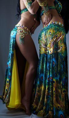 Belly Dancing, Arabian or Middle Eastern Inspiration for figure skating dresses Sk8 Gr8 Designs. I'd still want it for a dance show