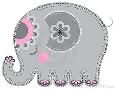 Free elephant appliques--good ideas for the elephant party.