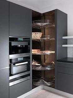 Do you want to have an IKEA kitchen design for your home? Every kitchen should have a cupboard for food storage or cooking utensils. So also with IKEA kitchen design. Here are 70 IKEA Kitchen Design Ideas in our opinion. Kitchen Pantry Design, Cute Kitchen, Home Decor Kitchen, Kitchen Interior, New Kitchen, Kitchen Storage, Kitchen Rack, Kitchen Utensils, Kitchen Tools