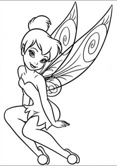 75 Tinkerbell printable coloring pages for kids. Find on coloring-book thousands of coloring pages. Tinkerbell Coloring Pages, Fairy Coloring Pages, Coloring Pages To Print, Printable Coloring Pages, Coloring For Kids, Coloring Pages For Kids, Coloring Sheets, Coloring Books, Disney Colouring Pages