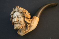 pipe of wine | Meerschaum pipe carved as Bacchus the God of Wine, in case.(7cm bowl ...