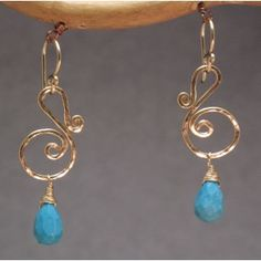 Victorian 228 Squiggle earrings with your choice of stone