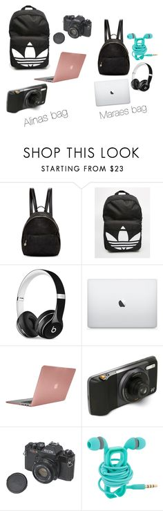 """""""Bags for photo shoot"""" by torilee-03 ❤ liked on Polyvore featuring STELLA McCARTNEY, adidas, Beats by Dr. Dre, Incase and Hasselblad"""