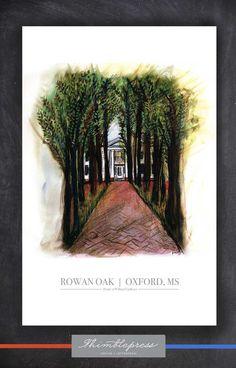 Rowan Oak 11x17 print | The Oxford, MS Collection $20