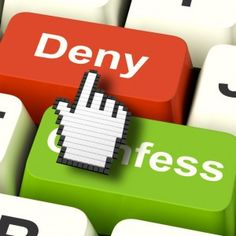 Denial Deny Keys Shows Guilt Or Denying Guilt Online