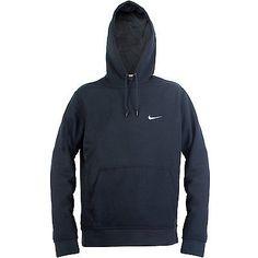 Nike Club Swoosh Hoodie Mens 611457-473 Dark Obsidian Pullover Hoody Size L