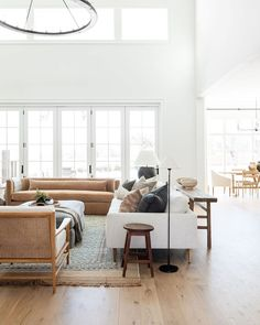 """Studio McGee on Instagram: """"There's nothing quite like seeing your vision come to life! We're sharing more about the things we're glad we did in #themcgeehome and…"""" Cozy Living Rooms, Formal Living Rooms, Home And Living, Studio Mcgee, Room Photo, Log Home Kitchens, Open Concept Floor Plans, Curved Sofa, Home Decor Quotes"""