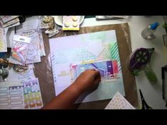 I've been Pretty Little Studio Guest Designer and I came up with a video tutorial on my YouTube Channel #scrapbook #memorykeeping #videotutorial
