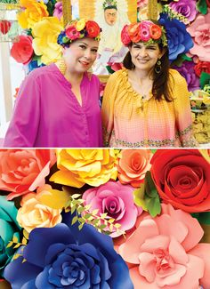Vibrant & Festive Frida Kahlo Inspired Mexican Party // Hostess with the Mostess® Mexico Party, Mexican Colors, Mexican Style, Mexican Birthday, Fiesta Party, Party Time, Backdrops, Flower Backdrop, Flower Wall