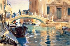 love this watercolor!   John Singer Sargent - Ponte San Giuseppe di Castello Venice