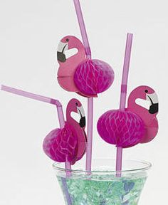 These bendy straws come complete with little flamingos, perfect for any occasion!