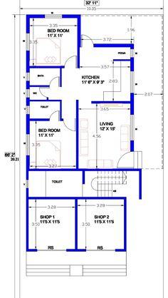 House Plans With Photos, Small House Plans, House Floor Plans, 2 Storey House Design, Duplex House Design, West Facing House, Indian House Plans, Lion Quotes, House Construction Plan