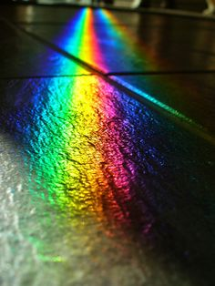 *COLOR ~ Black slate, twin rainbows by Velvet Android, via Flickr